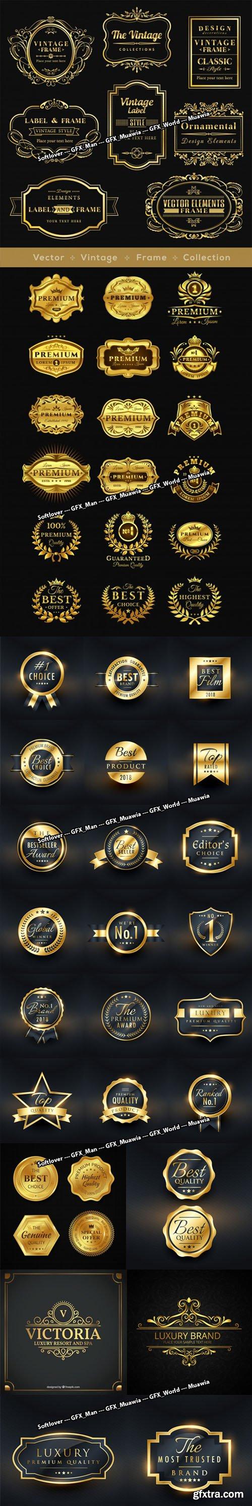 Golden Design Vector Collection [Ai/EPS]