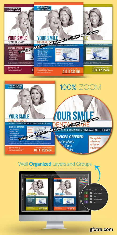 Dental Care Flyer PSD Template