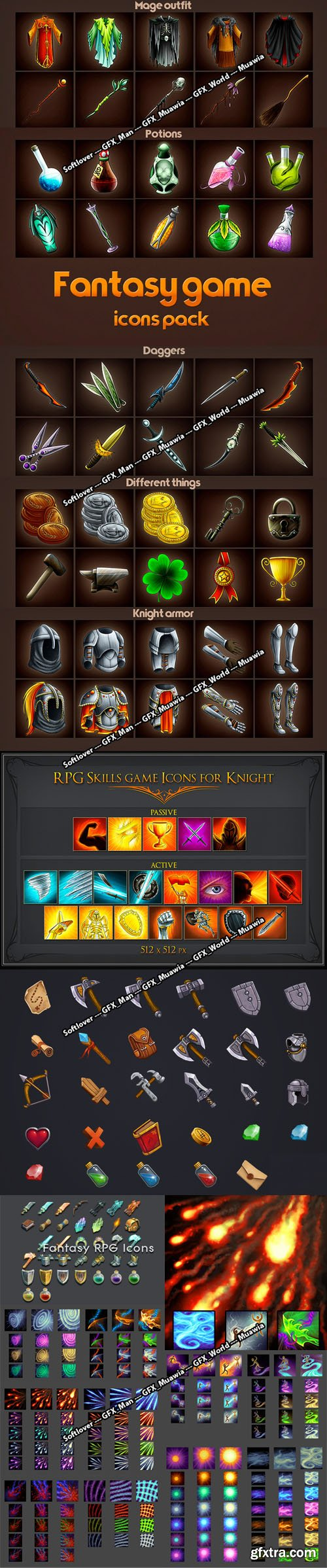 Fantasy RPG Game Icons Pack in PSD [PSD/PNG/JPG]
