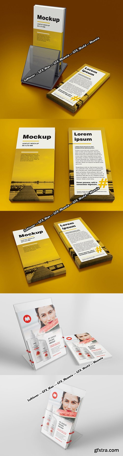 Leaflet Holder PSD Mockups