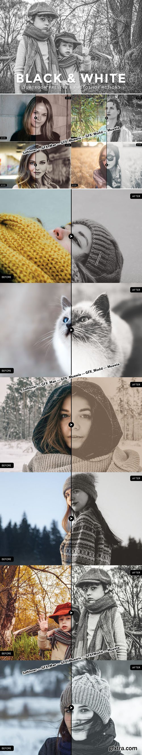 10 Black & White Presets for Lightroom, Photoshop and CameraRaw [lrtemplate/ATN/XMP]