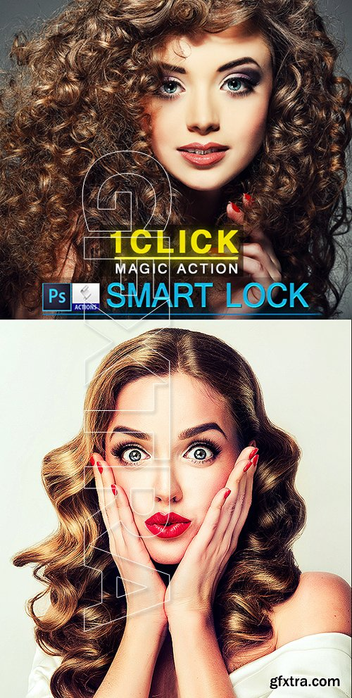 GraphicRiver - Smart Lock Photoshop Action 22693537