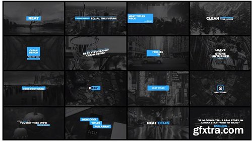 Neat Titles Pack - Premiere Pro Templates 138883