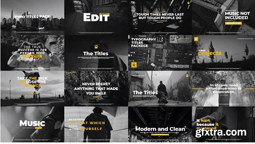 Typographic Titles Pack - Premiere Pro Templates 137872