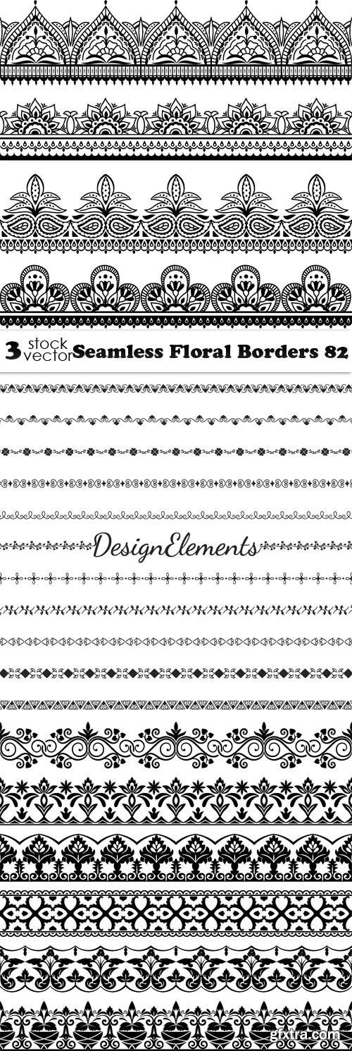 Vectors - Seamless Floral Borders 82