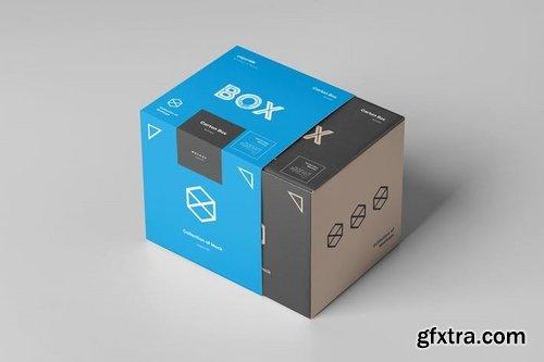 Carton Box Mockup 100x100x100 & Wrapper