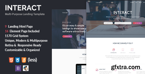 ThemeForest - Interact v1.0 - Multipurpose Landing Page Template - 18983001