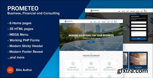 ThemeForest - PROMETEO v1.1 - Business, Financial and Consulting Site Template - 21118166