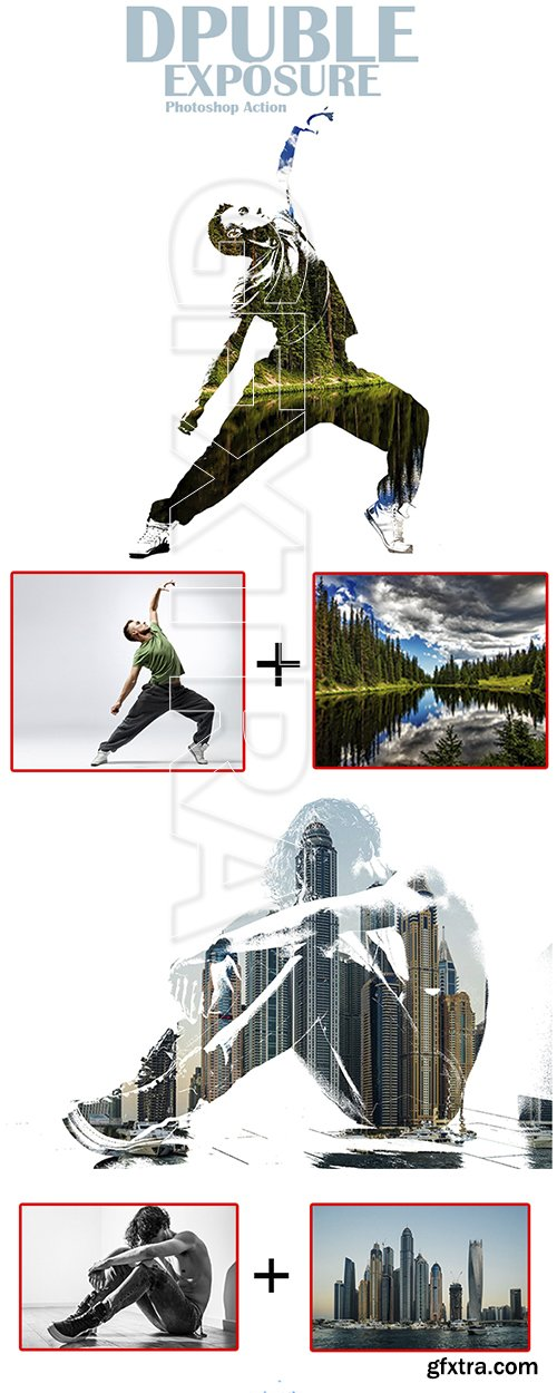 GraphicRiver - Double Exposure Photoshop Action 22786531