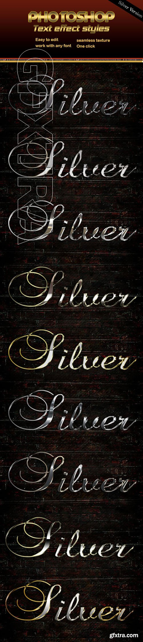 GraphicRiver - Silver Text Effect 22727954