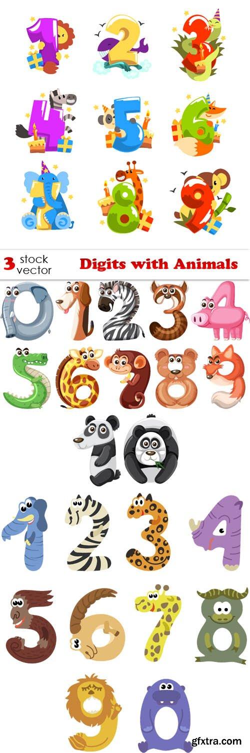 Vectors - Digits with Animals