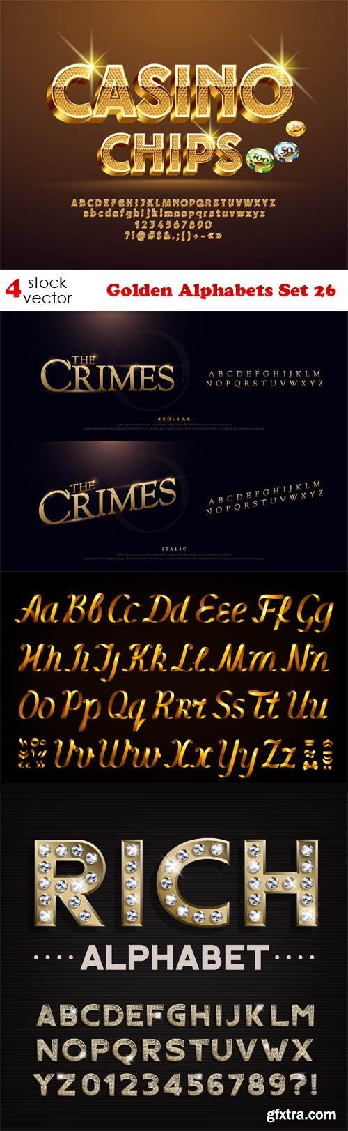 Vectors - Golden Alphabets Set 26