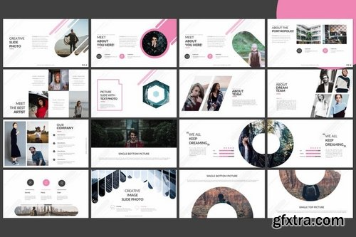 A Round Powerpoint Keynote and Google Slide Templates
