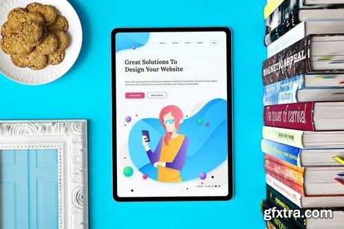 iPad Pro in Studio by QalebStudio on Envato Elements