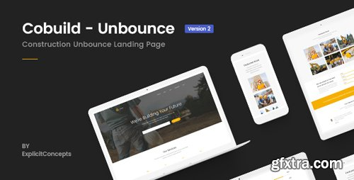 ThemeForest - Unbounce Construction Landing Page Template - Cobuild v2.0 - 21772867