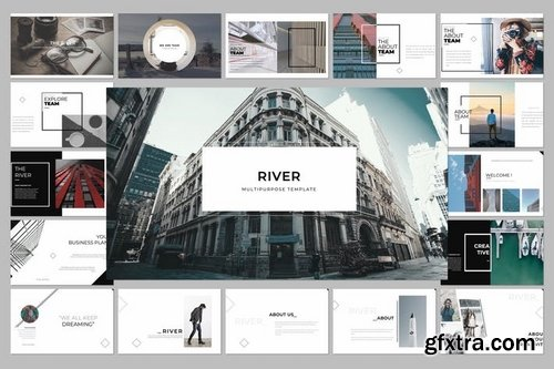 River Multipurpose Powerpoint Keynote and Google Slide Templates