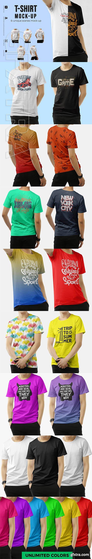 CreativeMarket - T-shirt Mock-up 3105445