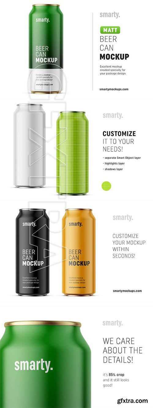 CreativeMarket - Beer can mockup 3123043