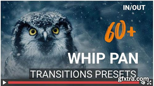 60 Whip Pan Transition Presets - Premiere Pro Templates 138801