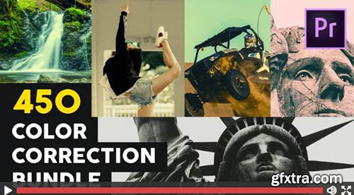 450 Color Correction Bundle - Premiere Pro Templates 139396