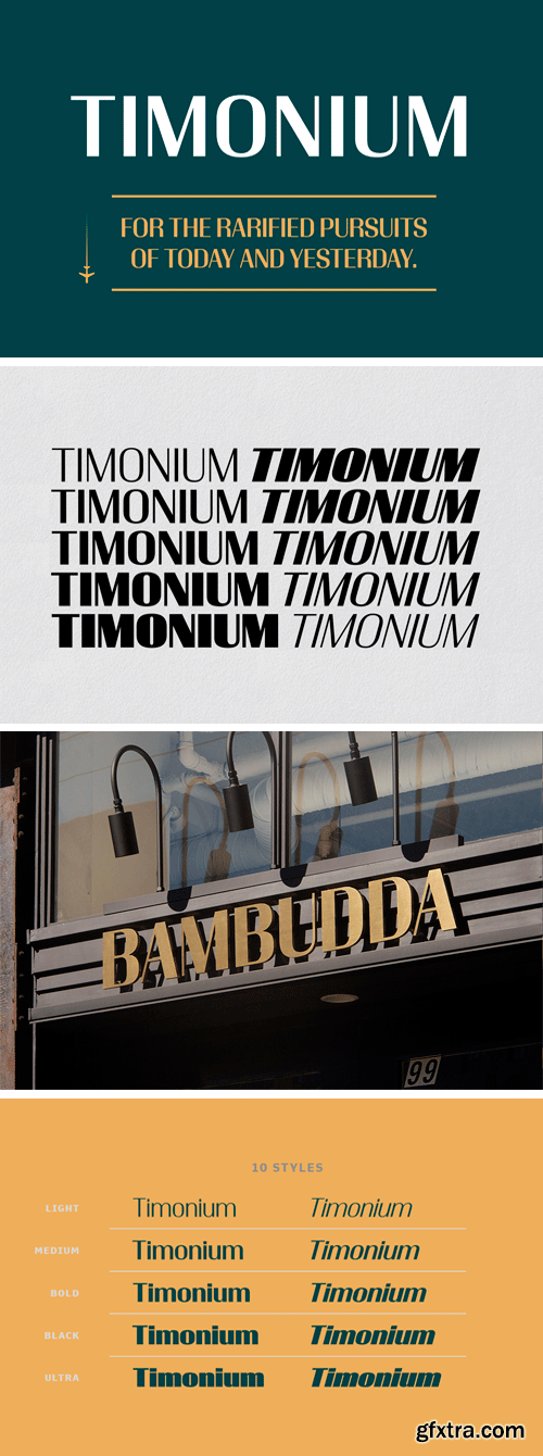 Timonium Font Family