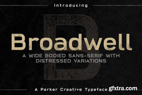 CreativeMarket Broadwell Bold Distressed Font 2431354