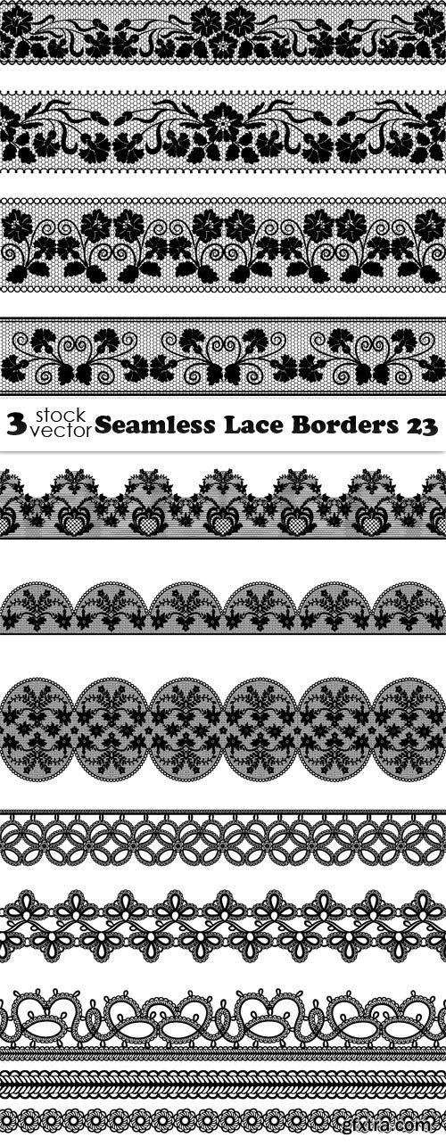 Vectors - Seamless Lace Borders 23