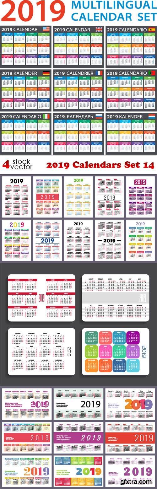 Vectors - 2019 Calendars Set 14