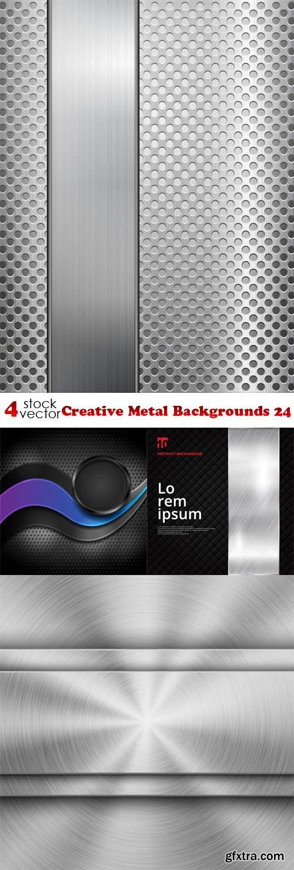 Vectors - Creative Metal Backgrounds 24