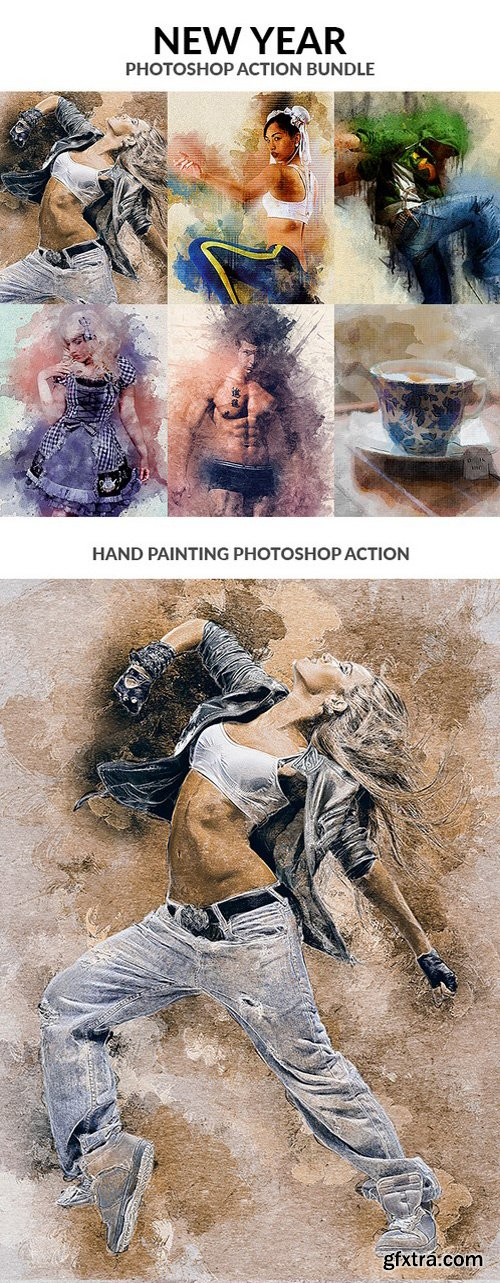 Graphicriver - New Year Photoshop Action Bundle 21173802