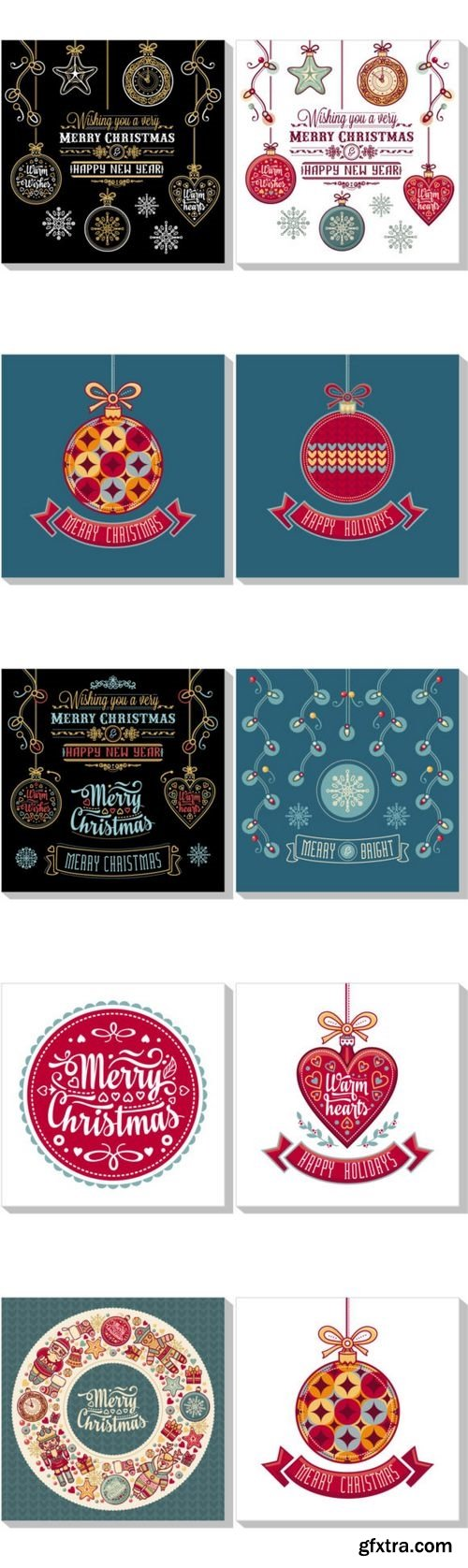 Stock Vector - Christmas Greeting Card and Template