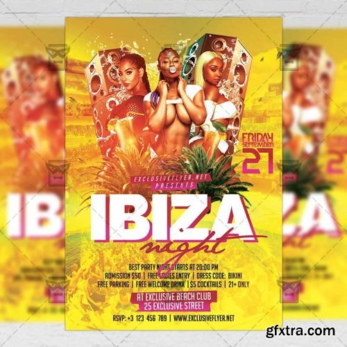 Ibiza Night Flyer - Club A5 Template