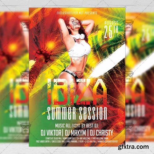 Ibiza Summer Session Flyer - Seasonal A5 Template