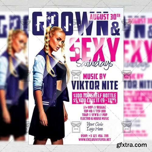 Grown and Sexy Flyer - Club A5 Template