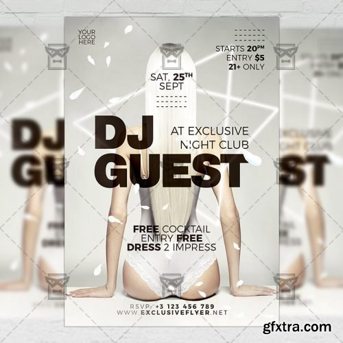 Dj Guest Night Flyer – Club A5 Template