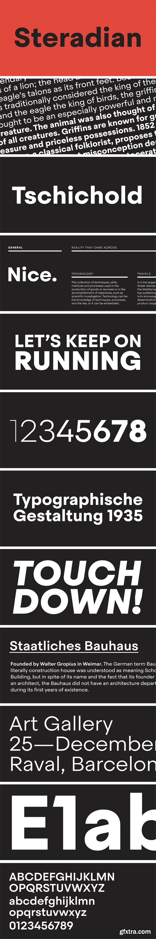Steradian Font Family