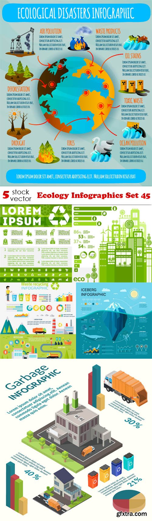 Vectors - Ecology Infographics Set 45