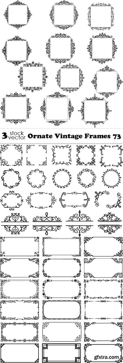 Vectors - Ornate Vintage Frames 73