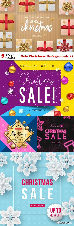 Vectors - Sale Christmas Backgrounds 21
