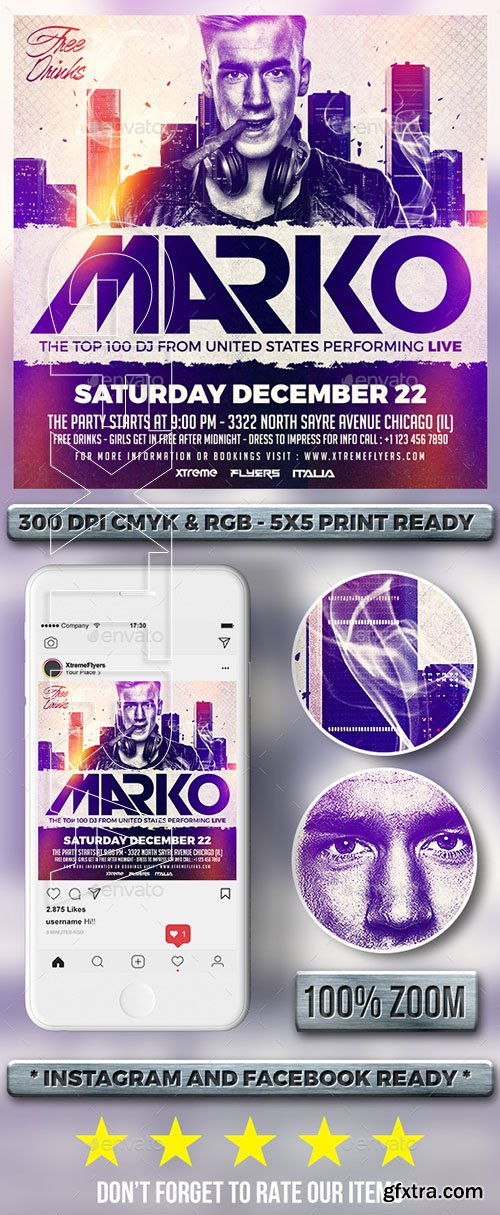 GraphicRiver - DJ Flyer 22754184