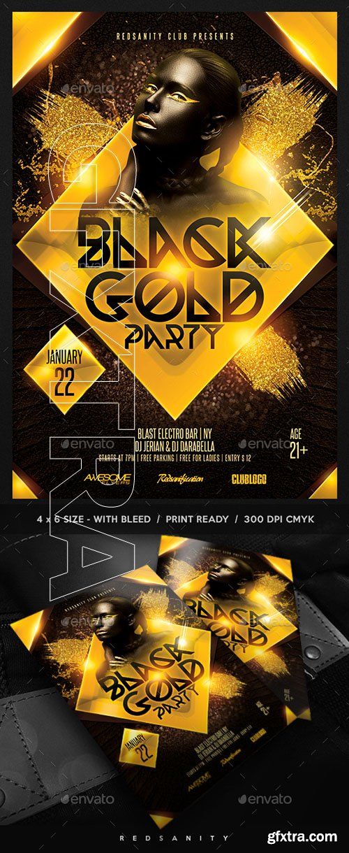 GraphicRiver - Black Gold Party Flyer 22751520