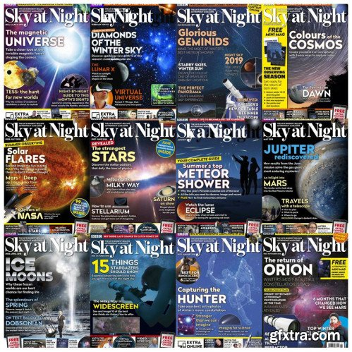 BBC Sky at Night - 2018 Full Year Issues Collection