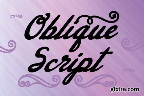 Oblique Script Font