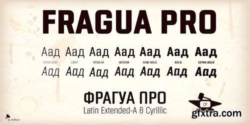 Fragua Pro Font Family - 14 Fonts[