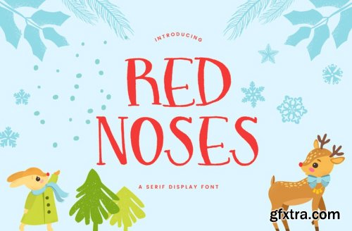 Red Noses Font Family