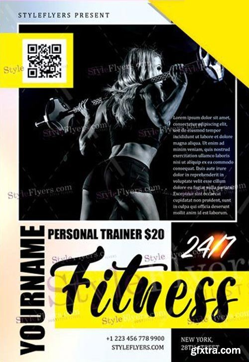Fitness V50 2018 PSD Flyer Template
