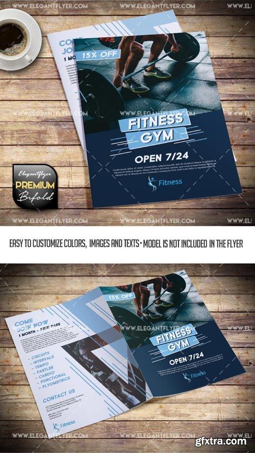 Sport Club V1 2018 Bi-Fold Premium PSD Brochure Template