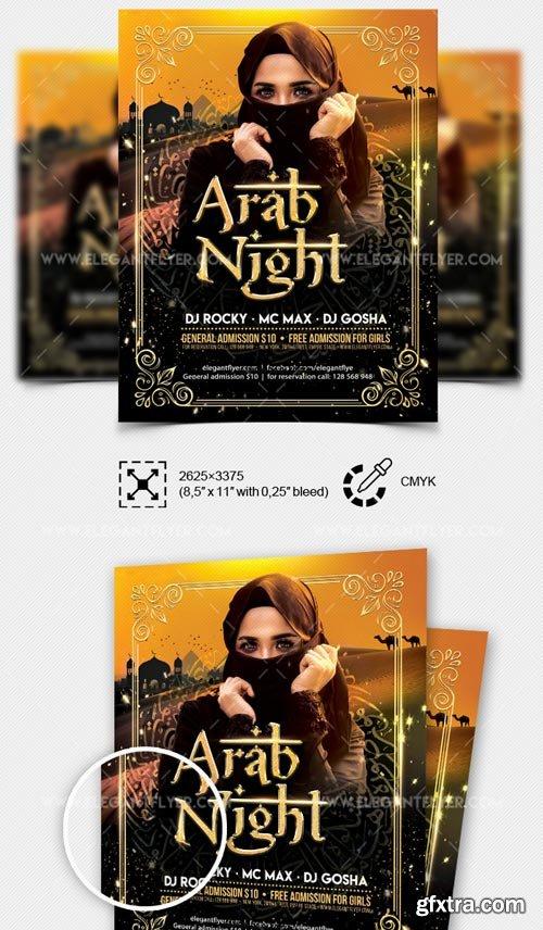 Arab Night Party V7 2018 Flyer PSD Template