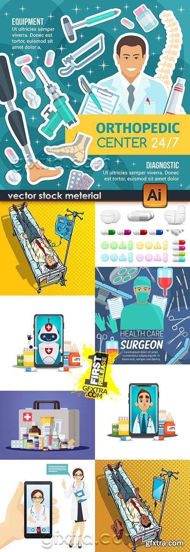 Medicine professional dignostic and equipment illustration 5