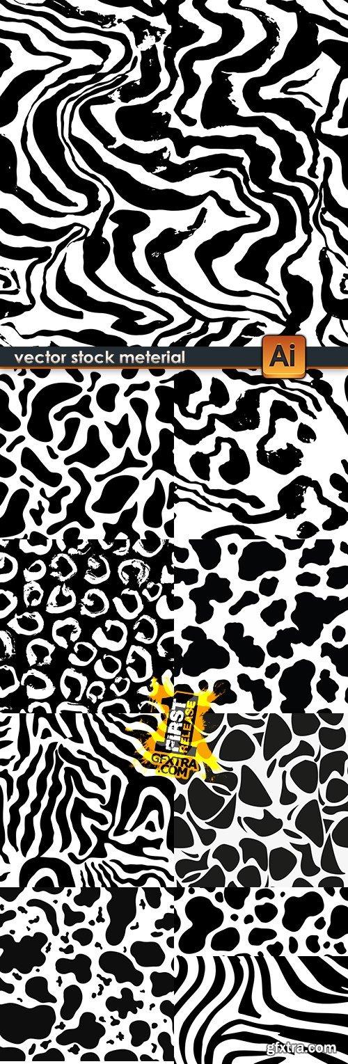 Modern geometric abstract pattern black design 21